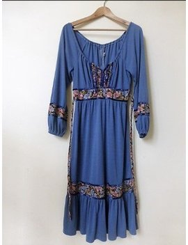 Vintage Festival Bohemian Style Dress by Etsy