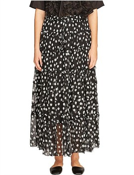 Mansfield Crinkle Silk Pom Pom Skirt With Slip by Lee Mathews