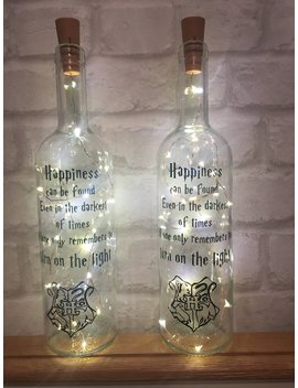 Harry Potter Night Light Bottle With Quote Gift Present by Etsy