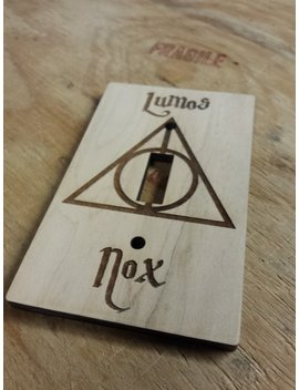Lumos Nox Light Switch Cover | Harry Potter Light Switch Cover | Harry Potter Switch Plate Cover | Harry Potter Decor by Etsy