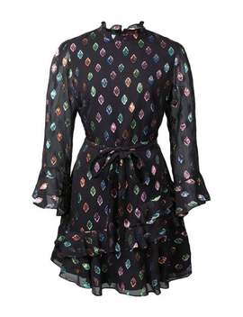 Black Marissa Sequin Patch Mini Dress by Shop Bazaar