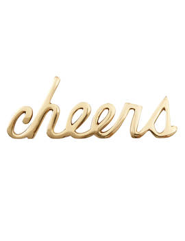 West Elm Brass Cheers Object by West Elm