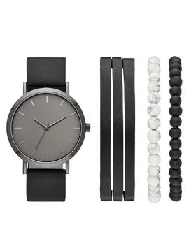 Men's Strap Watch Set   Goodfellow & Co™ Black by Goodfellow & Co
