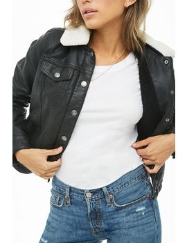 Levis Faux Leather Jacket by Forever 21