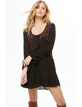 Floral Velvet Mini Dress by Forever 21