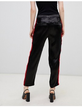 Asos Design Cigarette Pants In Luxe Satin by Asos Design