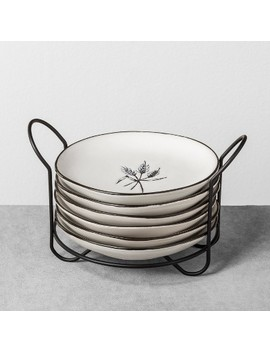 Appetizer Plates With Stand Set Of 6 Botanical   Hearth & Hand™ With Magnolia by Shop This Collection