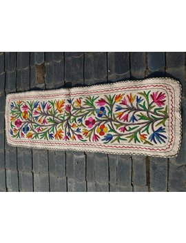 "Indian Runner Rug   Floor Runner Kashmiri ""Namda"" Pure Wool Felt Rug 2x6 