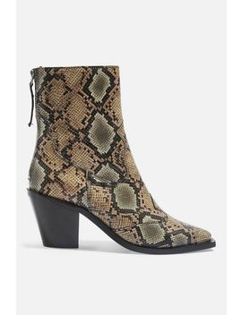 Marcel 2 Mid Heel Ankle Boots by Topshop