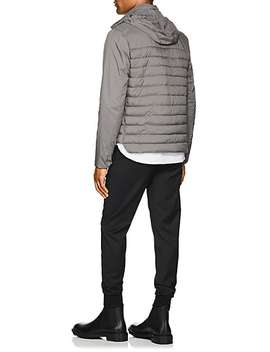 Hooded Tech Fabric Puffer Jacket by Herno