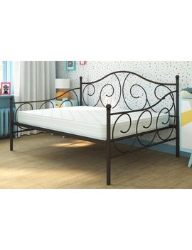 Dhp Victoria Full Size Metal Daybed With Mattress, Multiple Colors by Dhp