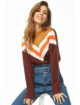 Brushed Chevron Sweater by Forever 21