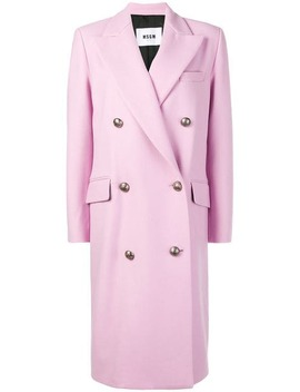 Double Breasted Coat by Msgm