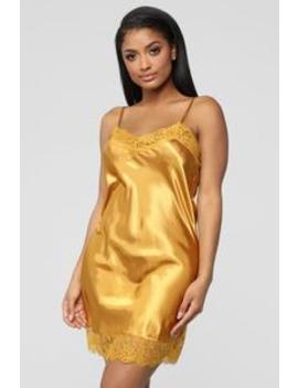Next To You Night Dress   Mustard by Fashion Nova