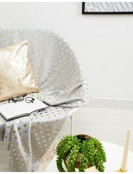 Bloomingville Spotty Grey Cotton Throw L170x W130cm by Bloomingville