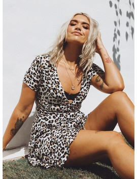 The Cala Leopard Mini Dress by Princess Polly