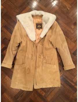 Wilson Suede  Leather Faux Fur Lined Adventure Bound Coat Xs 3/4 Length by Wilson