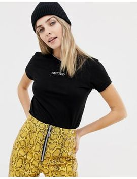 The Ragged Priest   Gekrompen T Shirt Met Slogan by Asos