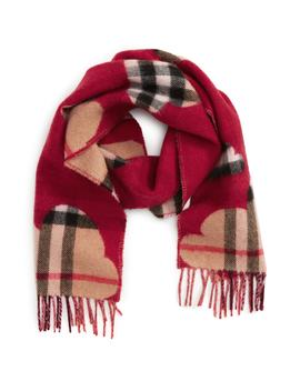 Rain Check Cashmere Scarf by Burberry