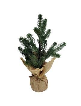 Burlap Wrapped Flocked Christmas Tree Green   Wondershop™ by Wondershop