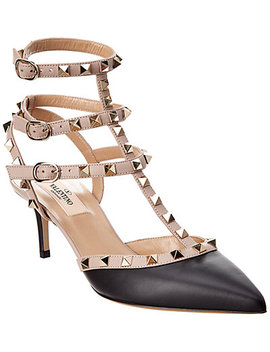 Valentino Rockstud 65 Leather Ankle Strap Pump by Valentino