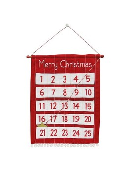 Merry Christmas Fabric Hanging Countdown Red/White   Wondershop™ by Shop This Collection