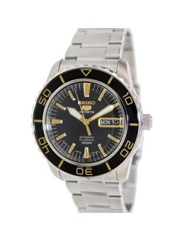 Seiko Men's 5 Automatic Snzh57 K Black Stainless Steel Self Wind Fashion Watch by Seiko
