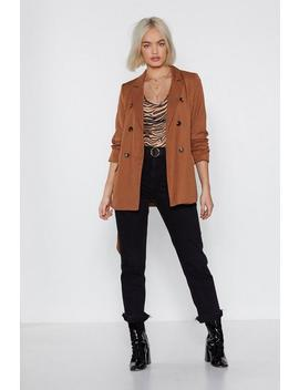 Double Breasted Tie Belt Blazer by Nasty Gal