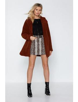 Oversized Teddy Fur Coat by Nasty Gal