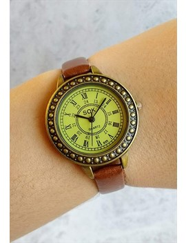Antique Style Slim Numeral Watch by Accessory Jam