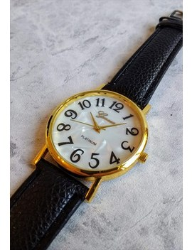 Stylised Pearl Effect Watch Gold Tone by Accessory Jam