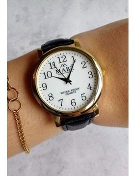 Classic Leather Watch Black by Accessory Jam