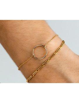 Dainty Bracelet, Chain Bracelet, Everyday Bracelet, Minimalist Bracelet, Dainty Gold Bracelet, Tiny Bracelet, Figaro Chain Bracelet by Etsy