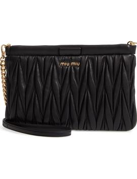 Matelassé Lambskin Leather Clutch by Miu Miu
