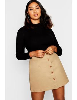 Plus Horn Button Utility Skirt by Boohoo