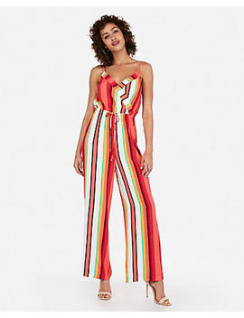 Printed Surplice Jumpsuit by Express