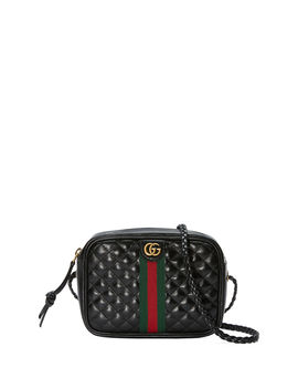 Quilted Zip Camera Crossbody Bag by Gucci