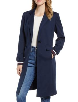 Rib Trim Ponte Jacket by Halogen®