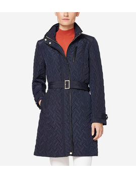 Signature Quilted Zip Front Coat by Cole Haan