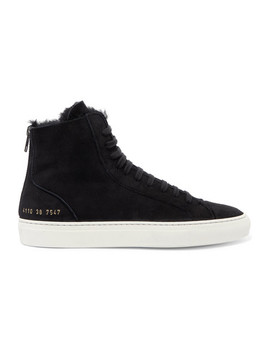 Tournament Shearling Lined Suede High Top Sneakers by Common Projects