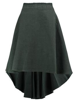 Crinkled Cotton And Linen Blend Skirt by J.W.Anderson
