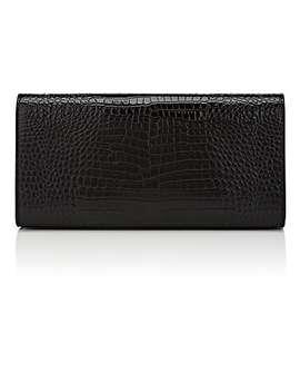 Monogram Kate Leather Clutch by Saint Laurent