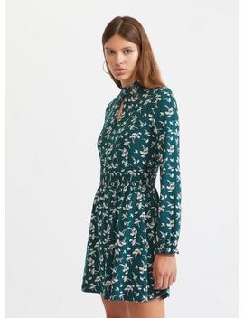 Floral Print Shirred Mini Skater Dress by Miss Selfridge