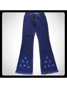 Delia*S Star Jeans Lace Up Fly 90's Raw Hem Flare by D E Li A*S
