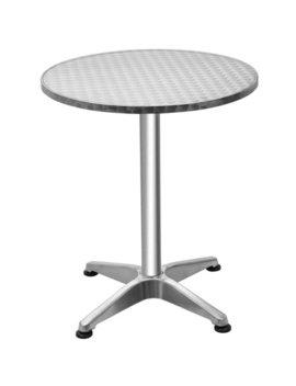 "Gymax Aluminium 23 1/2"" Round Top Bar Table Indoor Outdoor Bistro Pub W/ Base by Gymax"