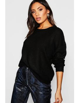 Crew Neck Fisherman Jumper by Boohoo