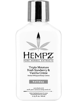 Travel Size Triple Moisture Fresh Snowberry & Vanilla Creme Herbal Whipped Body Crème by Hempz