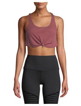 Knot Scoop Neck Tank Bra by Alo Yoga