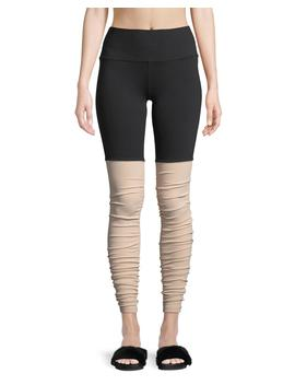Goddess Shirred High Rise Performance Leggings by Alo Yoga