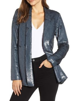 Shawl Collar Sequin Jacket by Cupcakes And Cashmere